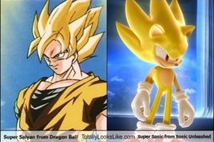 "Gokú Super Saiyajin es parecido a Super Sonic de ""Sonic Unleashed"" Foto: Totally Looks Like – Cheezburger"