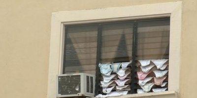 Estas pantaletas en el ventilador. Foto:Colombianadas