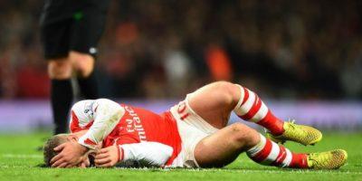 El jugador del Arsenal ha sufrido contantemente lesiones en el tobillo. Foto:Getty Images
