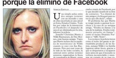 Incendió la casa de su amiga porque la eliminó de Facebook