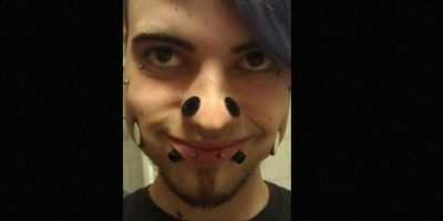 "Él sorprendió a Internet. Se llama BodyMooded Punky. Comenzó con piercings ""normales"": Foto:BodyMooded Punky/Facebook"