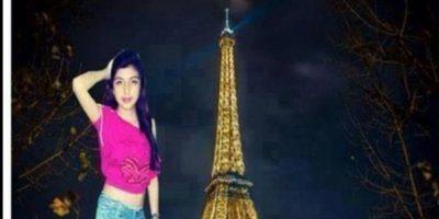 """La que fue a la """"torre ifel en Italia"""" en sus """"vacasiones"""" con Photoshop Foto:Guisadas y ñeradas de redes sociales."""