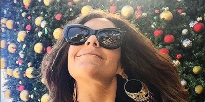 Cristina Umaña no desaprovecha oportunidad para tomarse selfies navideñas. Foto:Instagram