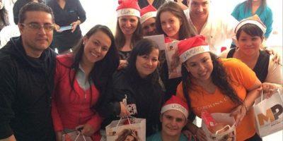 Carolina Cruz une celebración navideña y trabajo. Foto:Instagram
