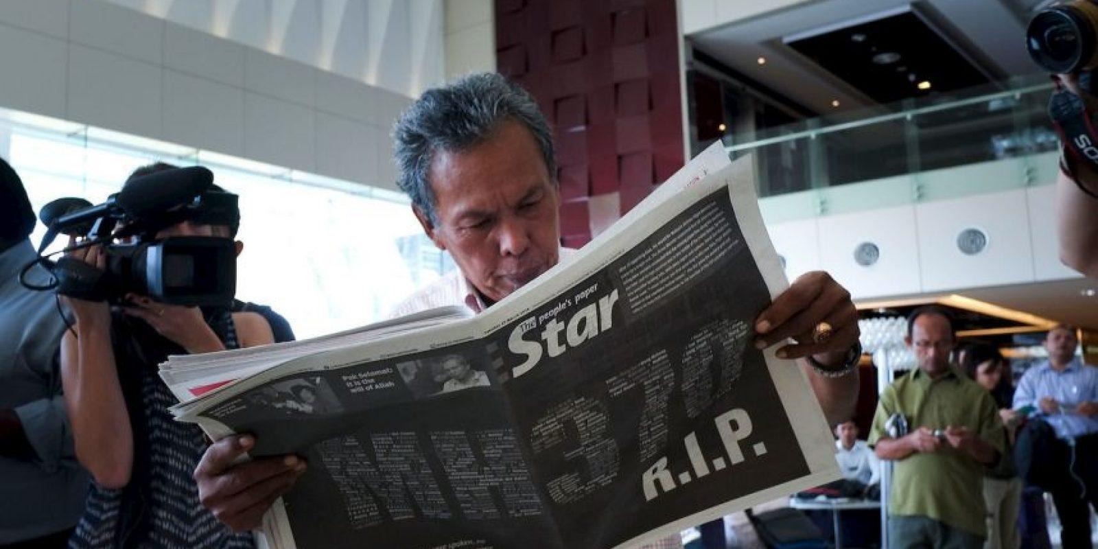 8 de marzo- Desapareció el vuelo MH-370, el cual volaba hacia Kuala Lumpur a Pekín.El avión Boing 777 desapareció de los radares a 50 minutos de haber despegado. 239 personas iban abordo. Foto:Getty