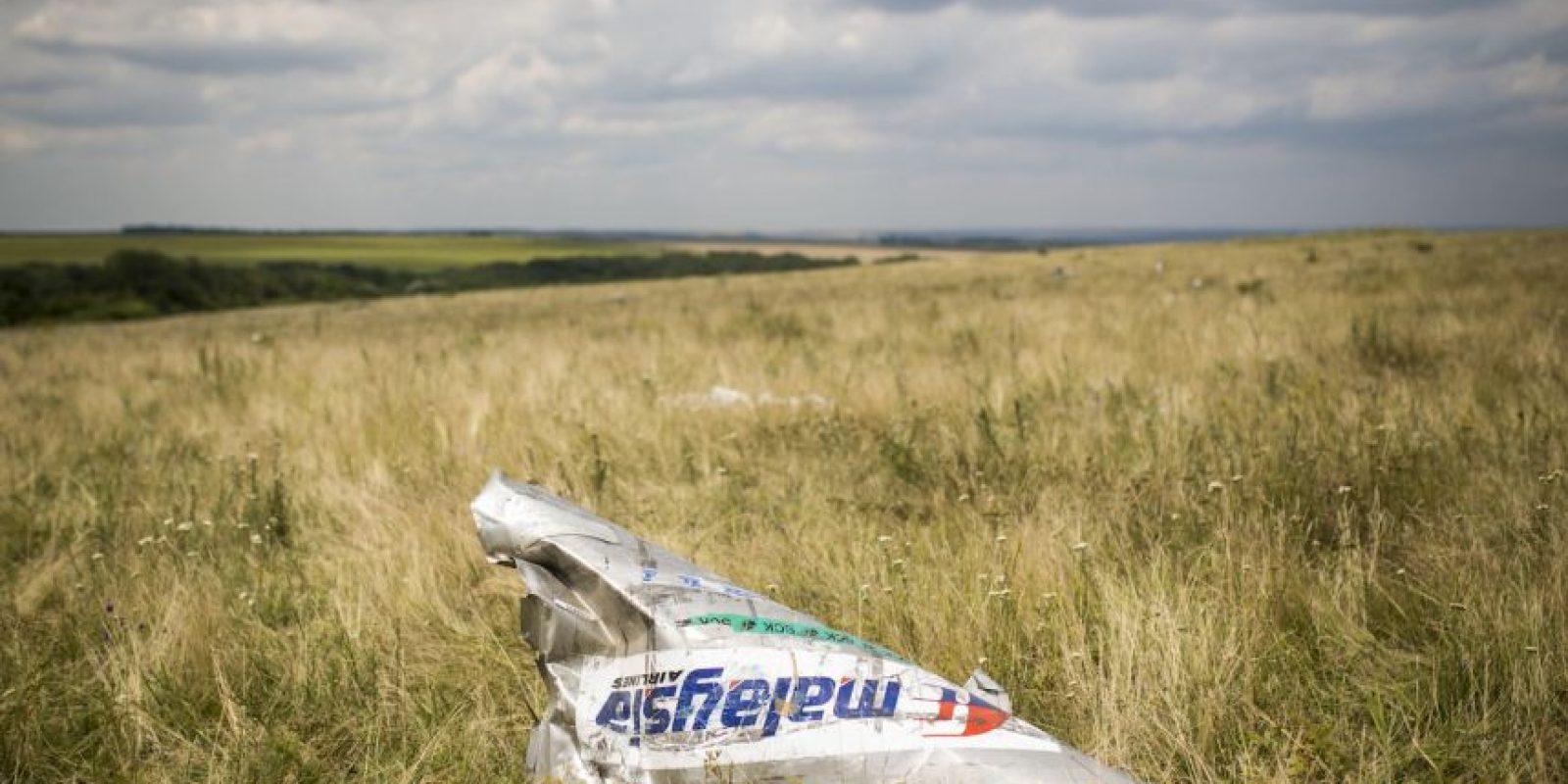 17 de julio- El vuelo MH-17, también de Malaysia Airlines fue derribado en el este de Ucrania. 298 personas fallecieron en el ataque, que constó de un misil lanzado por rebeldes prorrusos. Foto:Getty