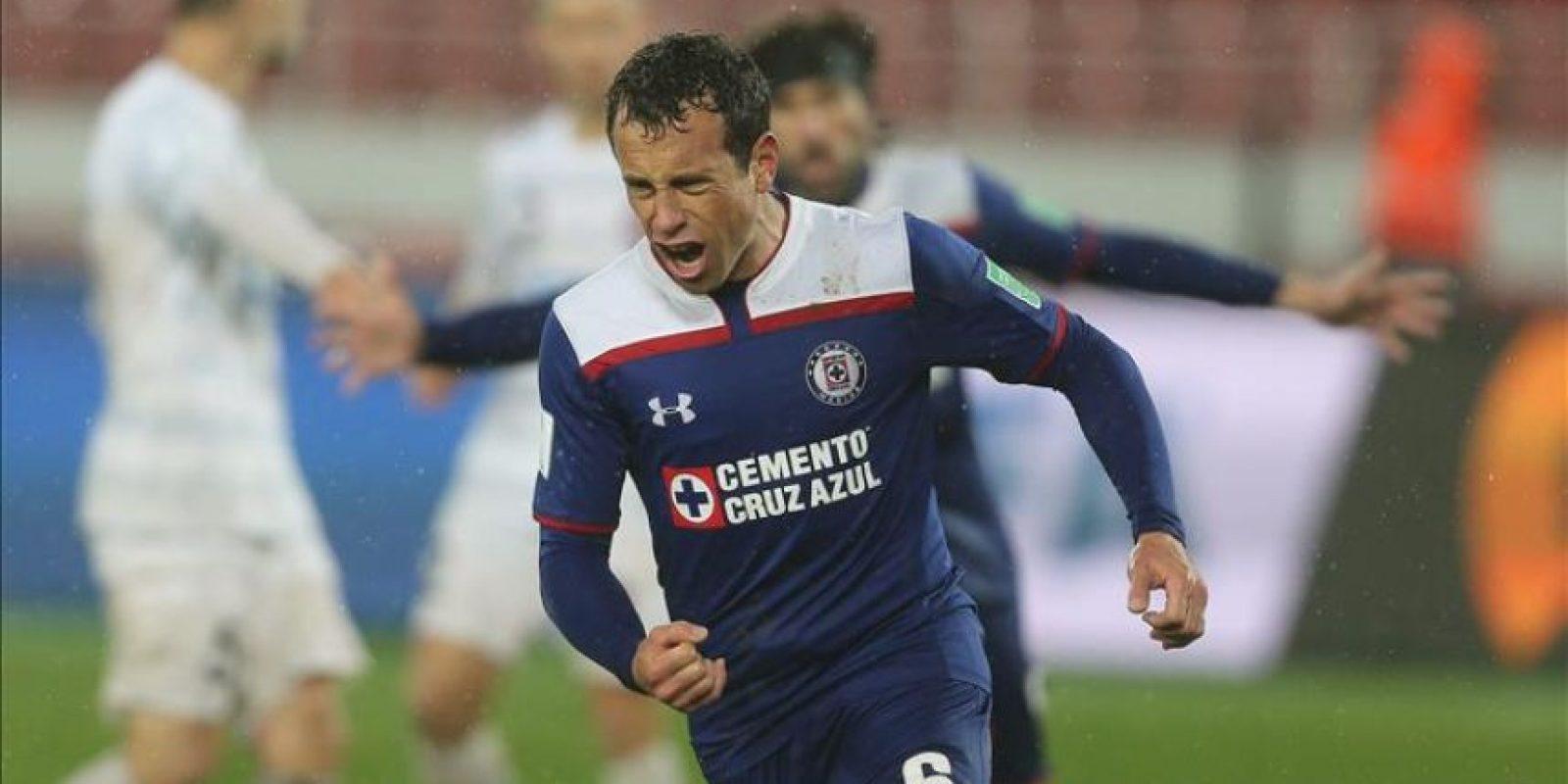 El centrocampista del Cruz Azul FC Gerardo Torrado celebra el gol de penalti que permitiía a los mexicanos ir a la prórroga ante el tes WS Wanderers FC en el Mundial de Clubes que se está disputando en Rabat, Marruecos. EFE/EPA