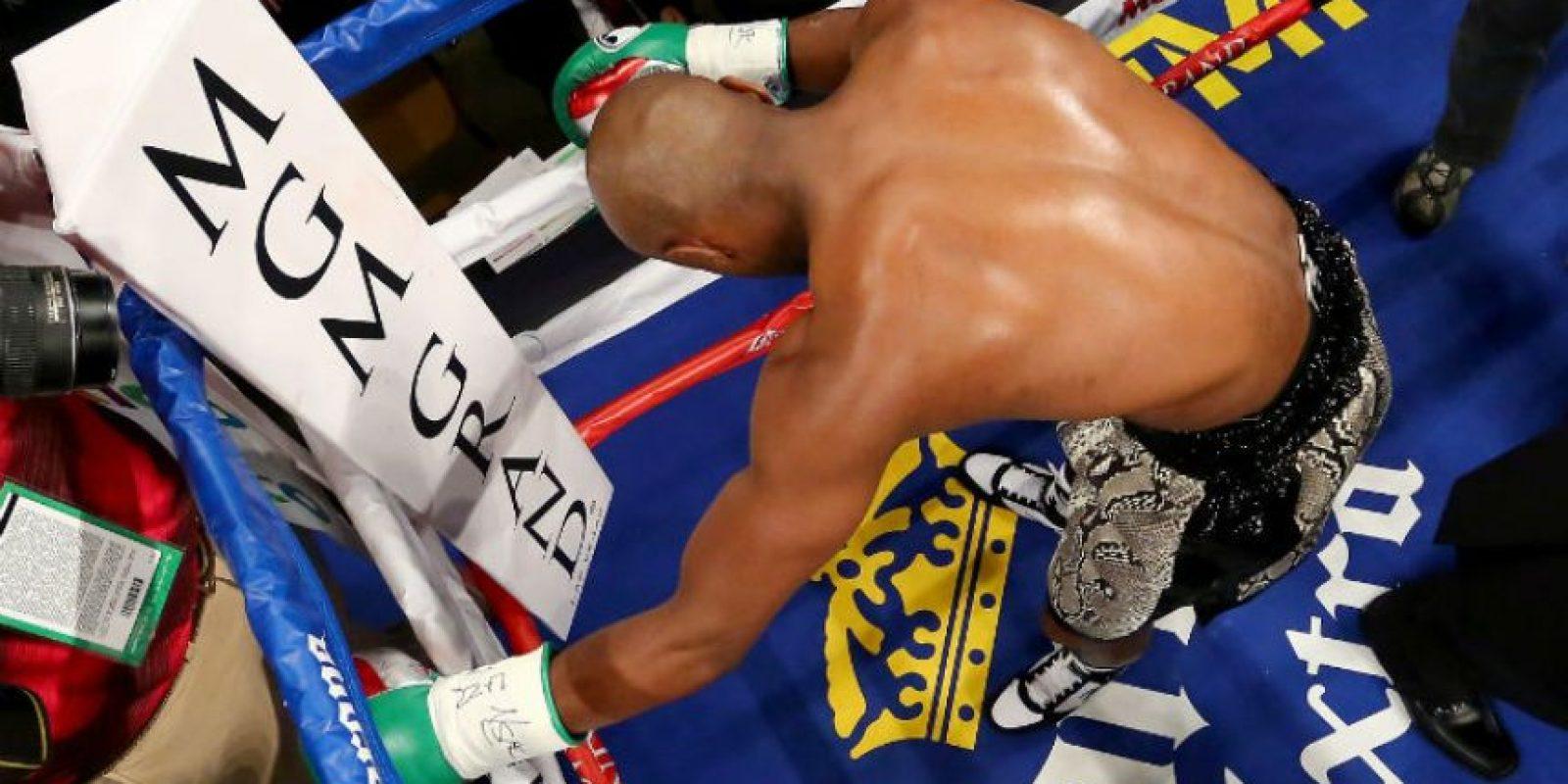 Comenzó a calentar la pelea Foto:Getty