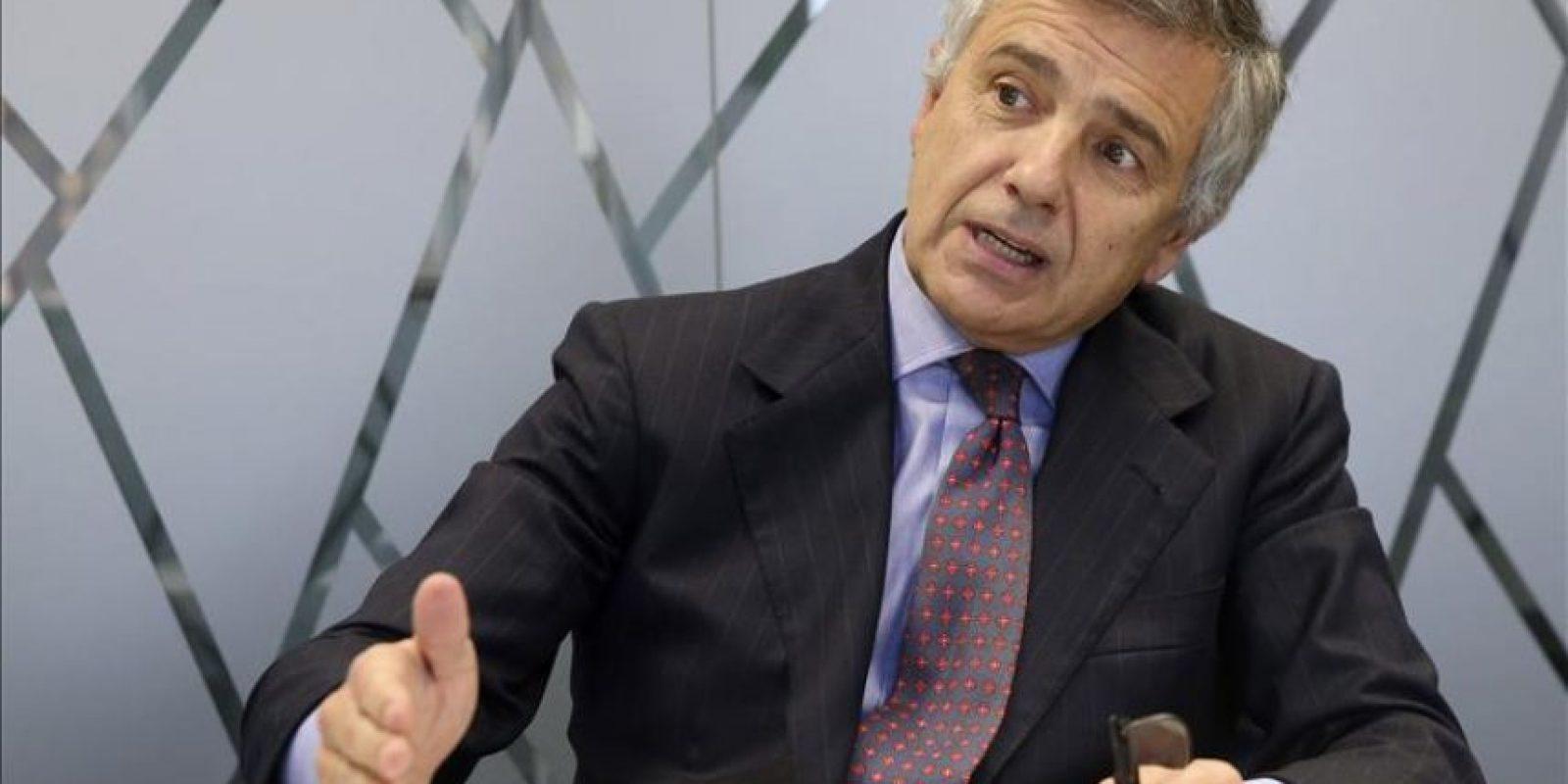 Juan Antonio Samaranch, miembro de la Comisión Ejecutiva del COI, durante una entrevista con Efe. EFE