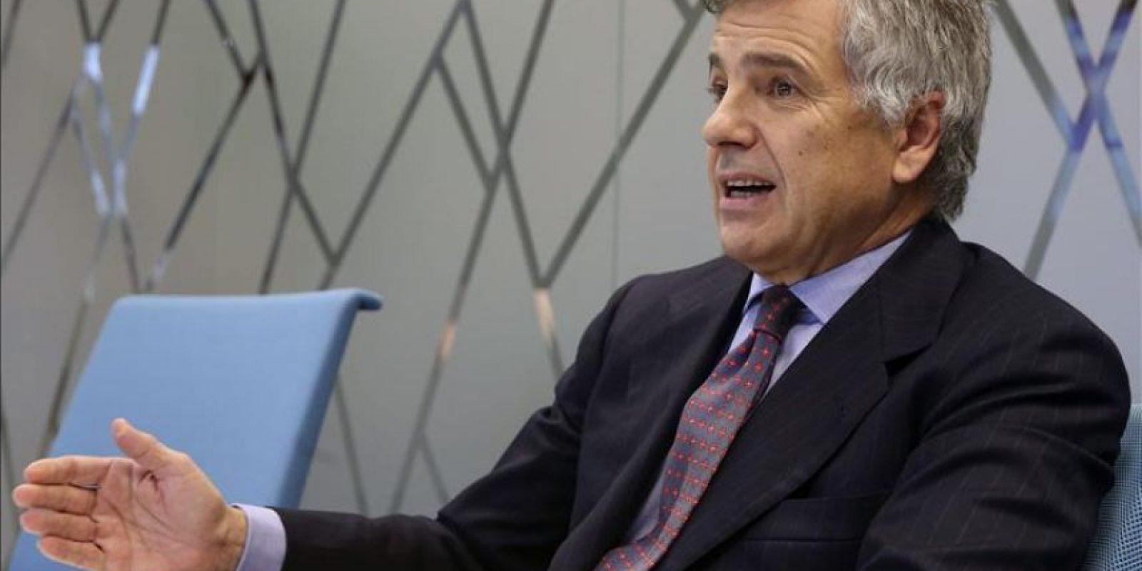 Juan Antonio Samaranch, miembro de la Comisión Ejecutiva del COI, durante una entrevista. EFE