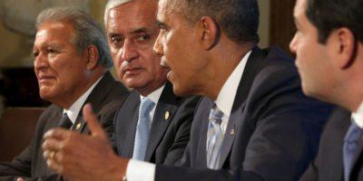 Otto Perez Molina de Guatemala, Juan Orlando Hernandez de Honduras y Salvador Sánchez Ceren de El Salvador Foto:Getty Images