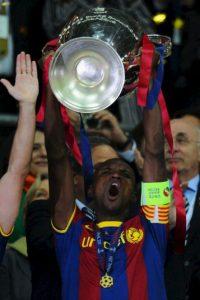 El jugador francés permaneció en la escuadra catalana de 2007 a 2013. Foto:Getty Images