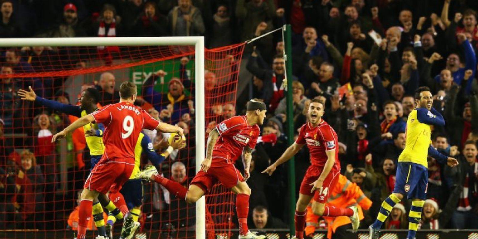 Liverpool y Arsenal finalmente terminaron empatados a dos goles. Foto:Getty Images