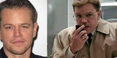 Con varios kilos de más y viéndose mucho más viejo apareció Matt Damon en la cinta 'El Informante'.