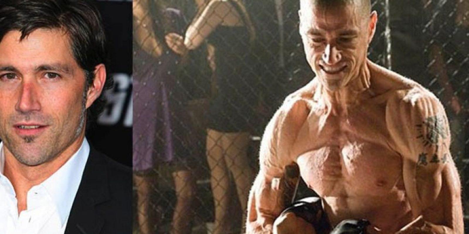 El actor Matthew Fox cambió radicalmente su cuerpo para hacer la película 'En la Mente del Asesino'.