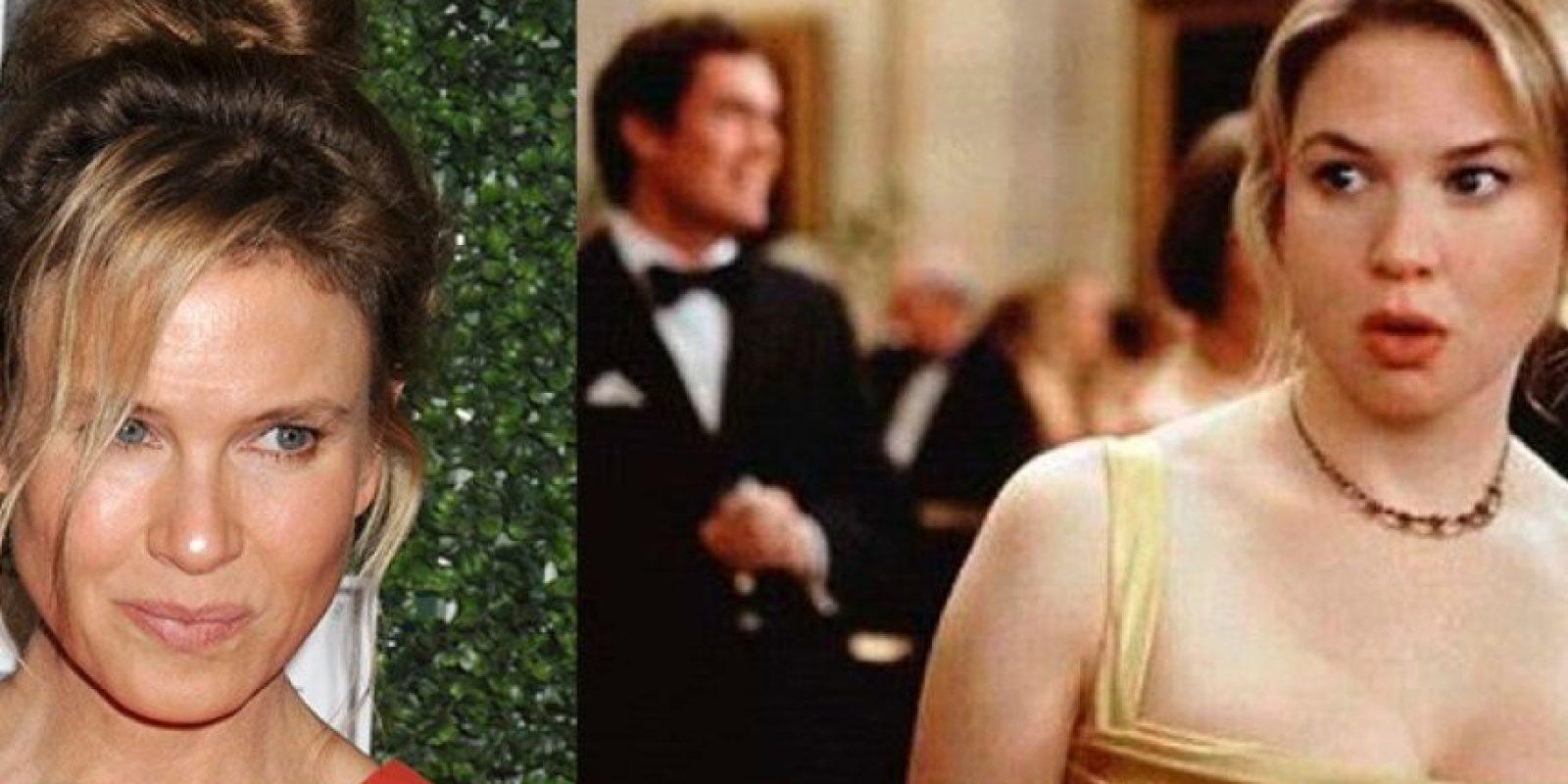 Renee Zellweger engordó cerca de 15 kilos para su personaje de'Bridget Jones. Lo más impactante fue su rápida pérdida de peso cuando terminó la filmación.
