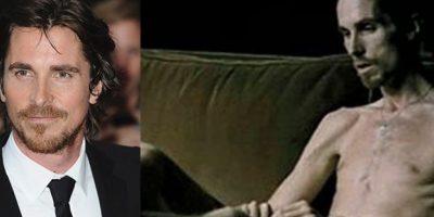 Christian Bale es uno de los actores que más se ha transformado para un papel. En esta ocasión perdió unos 28 kilos para protaginizar 'El maquinista'. Su dieta consistía en café, atún y manzanas.