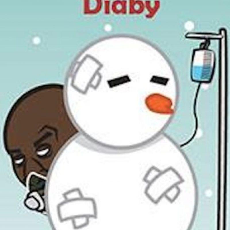 Abou Diaby, jugador francés del Arsenal. Foto:facebook.com/Justtoonit facebook.com/Justtoonit