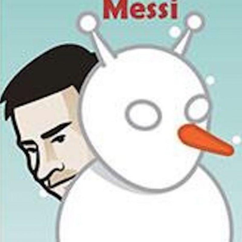 Lionel Messi, jugador del Barcelona. Foto:facebook.com/Justtoonit