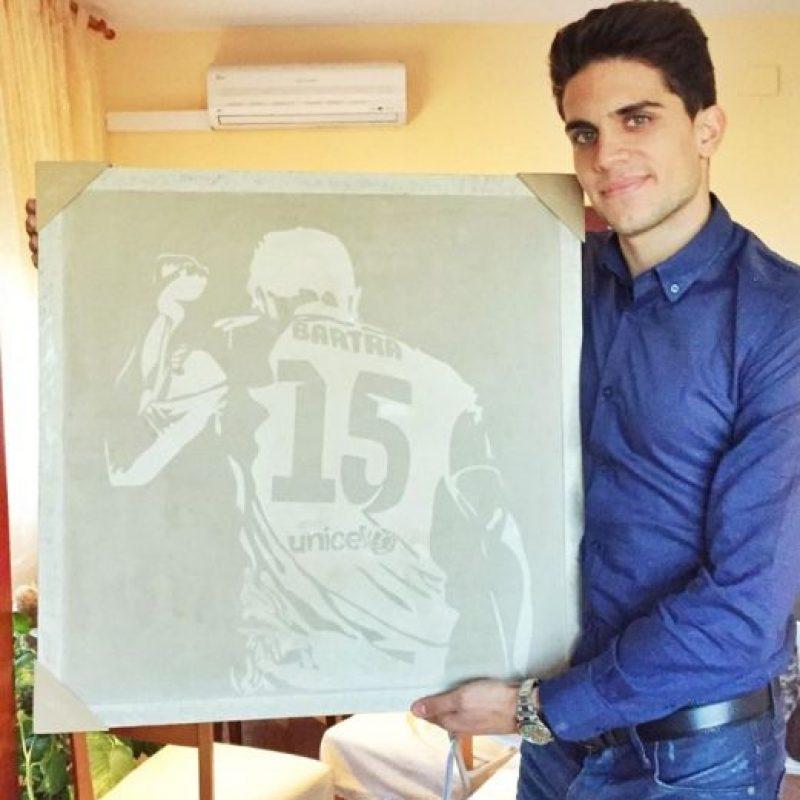 Marca Bartra, jugador español del Barcelona. Foto:twitter.com/MarcBartra