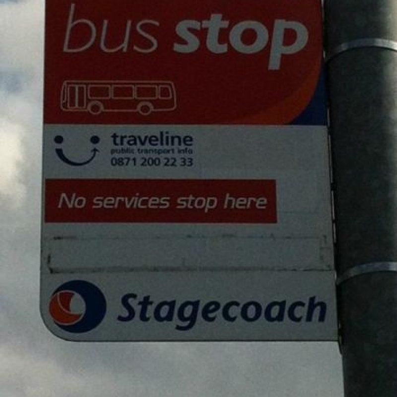 El paradero en el que no paran buses