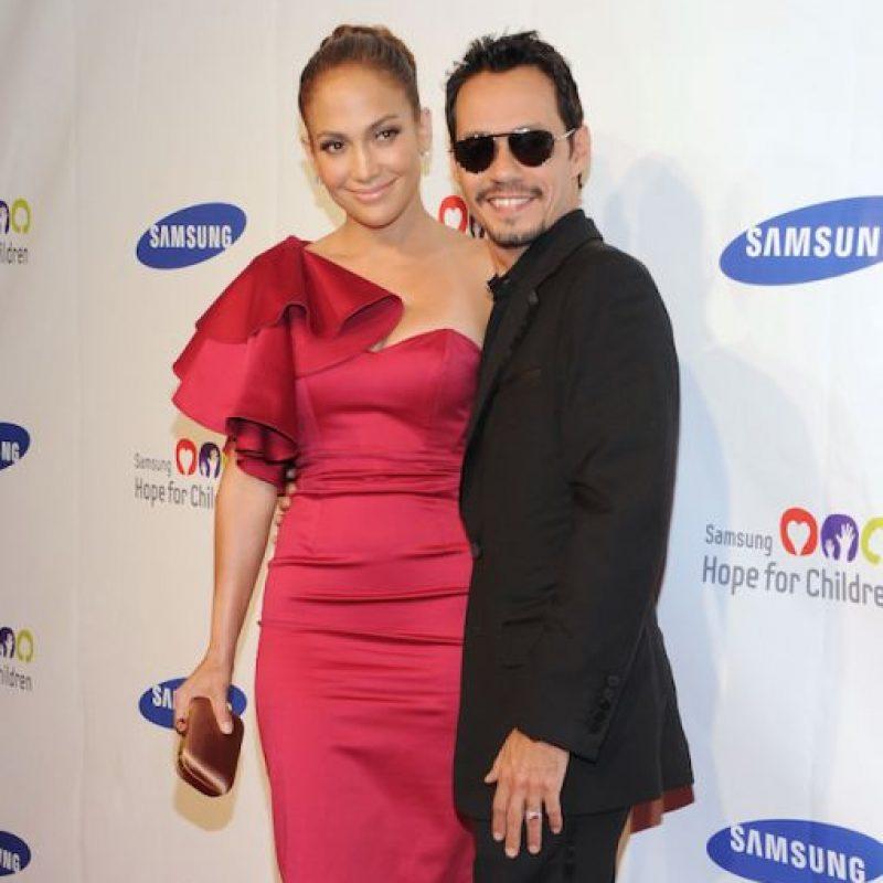 El matrimonio entre Jennifer López y Marc Anthony fue el más duradero en la vida de la cantante. Foto:Getty Images
