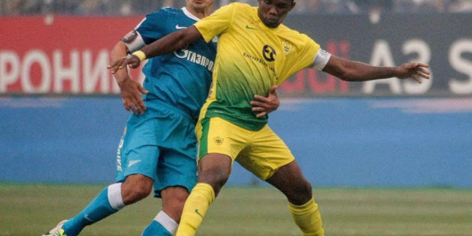 Eto'o jugó en el Anzhi de 2011 a 2013 Foto:Getty