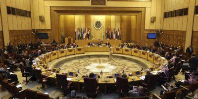 Vista general de la reunión extraordinaria de los delegados permanentes de la Liga Árabe en la sede de la Liga en El Cairo, Egipto, hoy. EFE