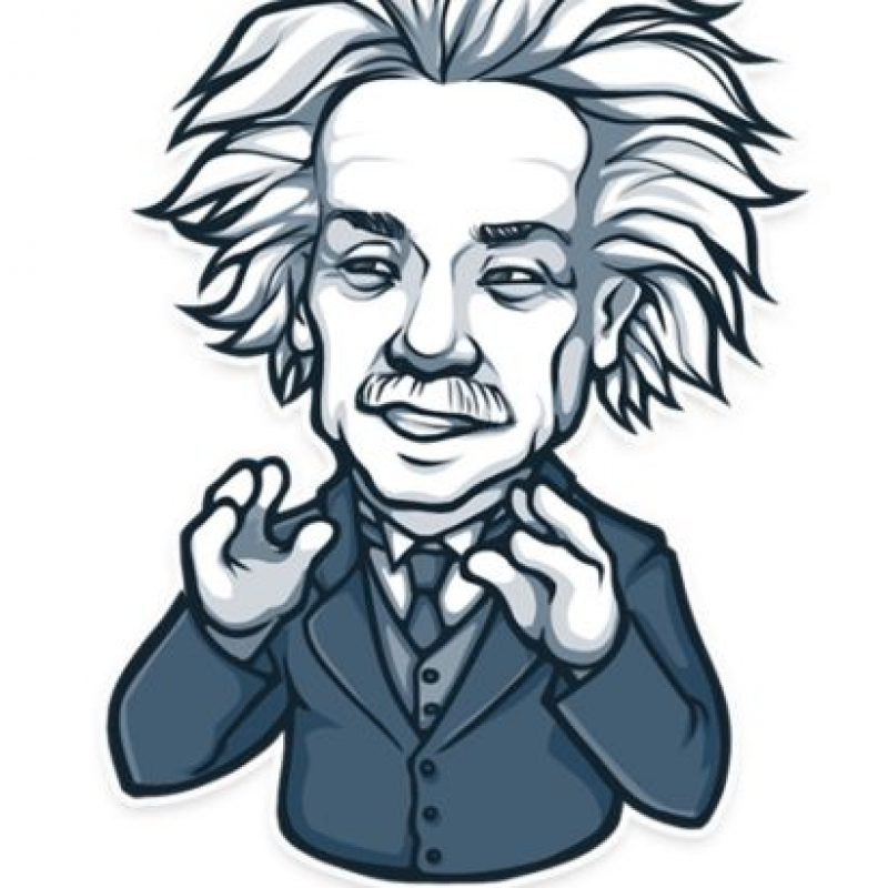 Albert Einstein explica. Foto: Telegram