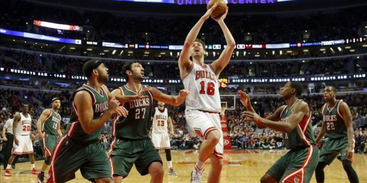 95-87. Gasol estableció su mejor marca con 46 puntos y salvó a los Bulls