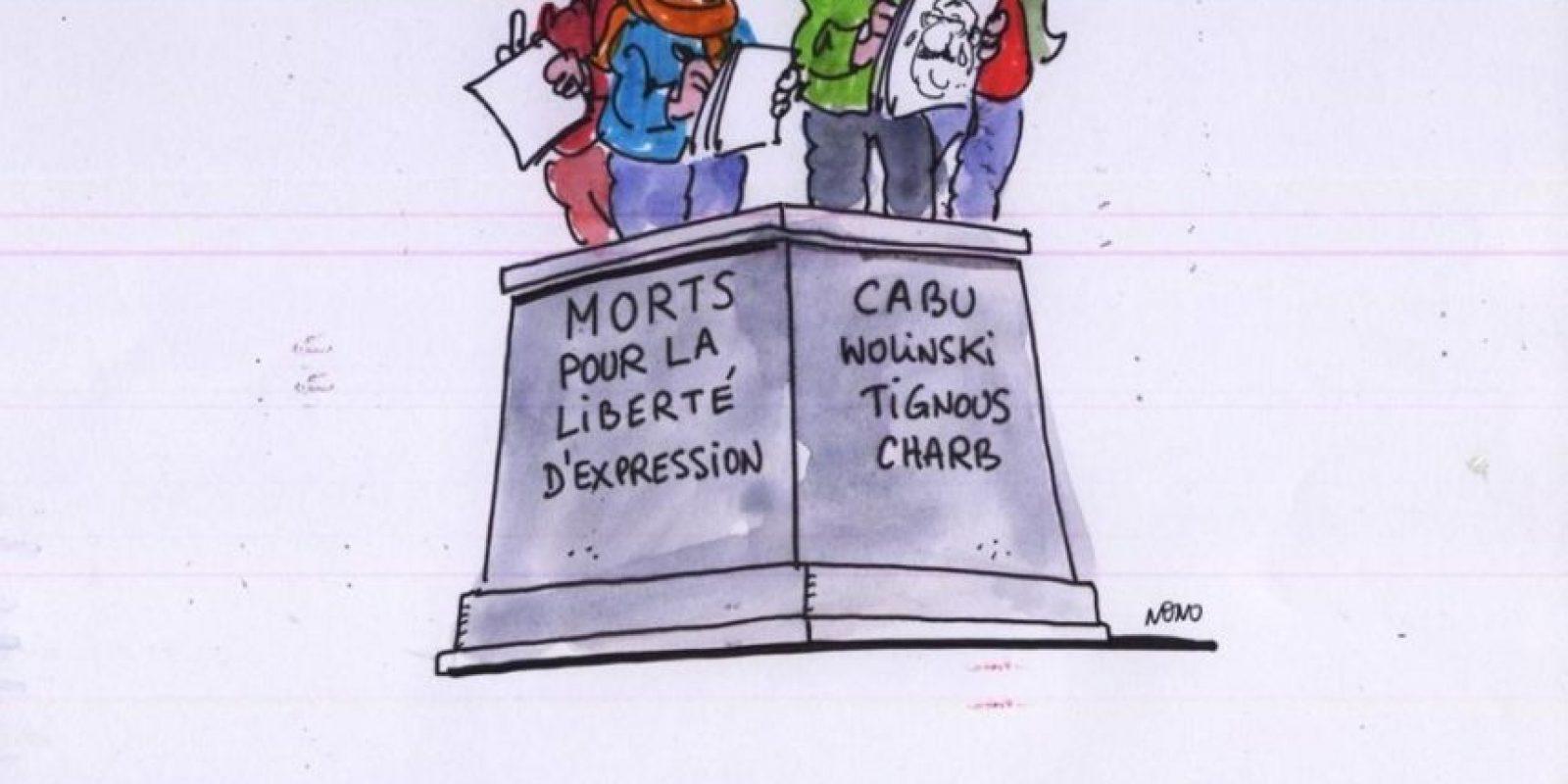 """Desde el creador de """"Astérix"""", Albert Uderzo, hasta caricaturistas de todo el mundo. Los dibujantes se unieron alrededor de la tragedia. Foto:Twitter"""