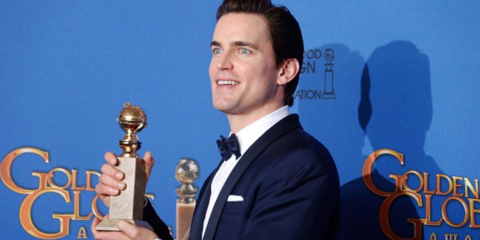 "Mejor Actor Secundario en serie televisiva: Matt Bomer, por ""The Normal Heart"". Foto:Getty Images"