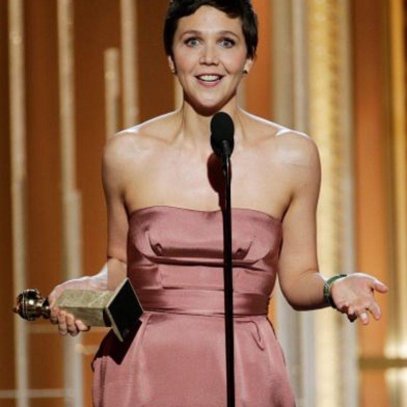 "Mejor Actriz por Miniserie o película para Televisión: Maggie Gyllenhaal, por ""The Honorable Woman"". Foto:Getty Images"
