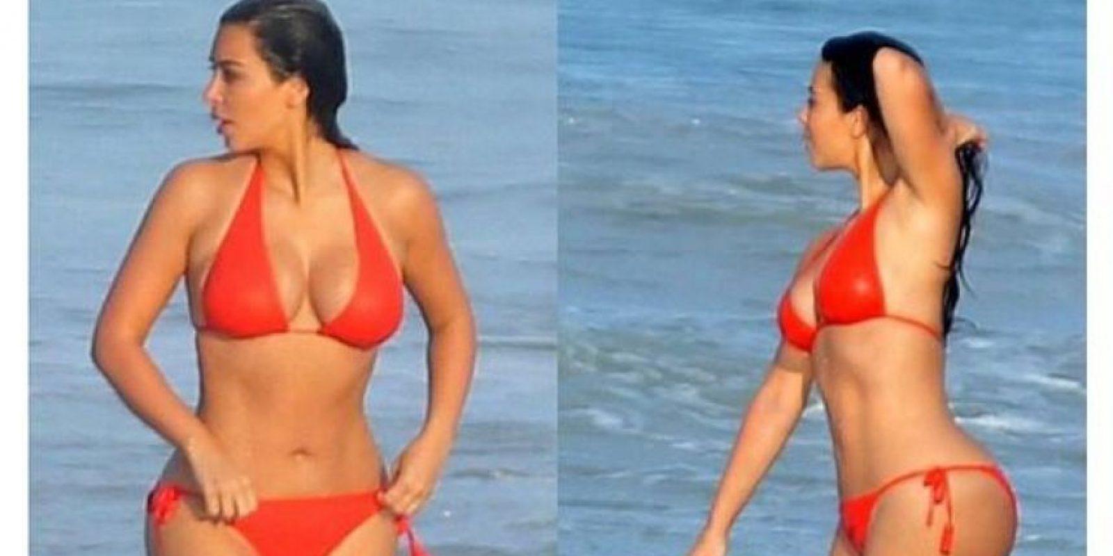 Y el look de Kim en la playa Foto:Instagram/Kim Kardashian
