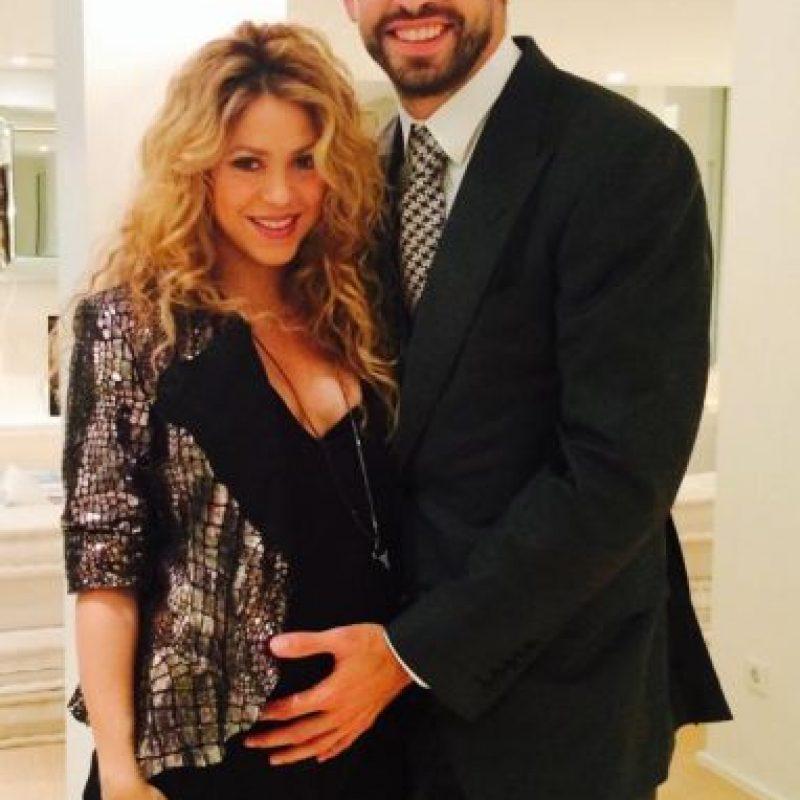 Shakira y Piqué, quienes esperan su segundo hijo. Foto:Facebook