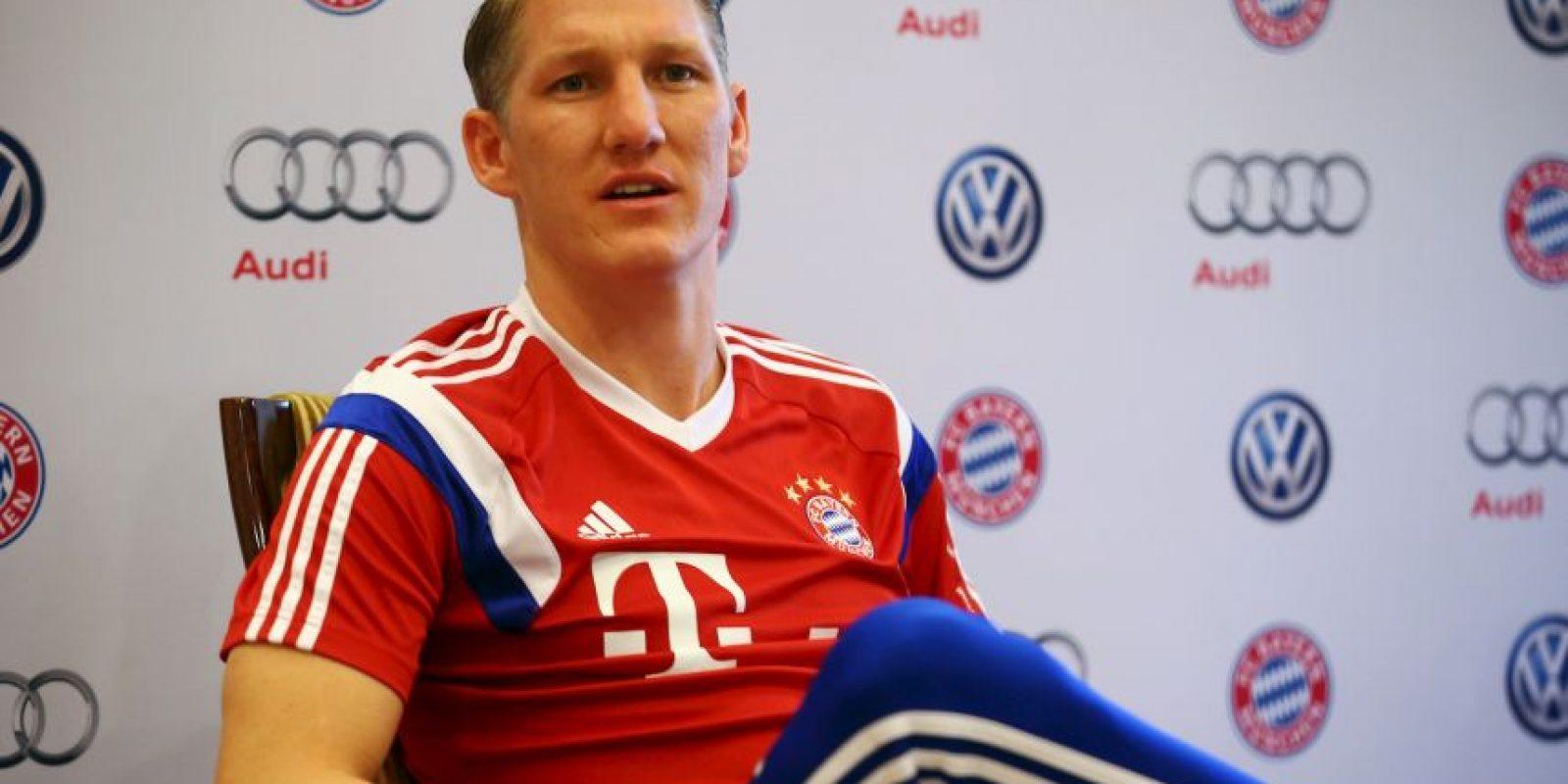 Bastian Schweinsteiger: Manuel Neuer, Philipp Lahm y thomas Müller Foto:Getty