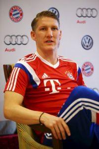 Y Bastian Schweinsteiger ocupó el tercer sitio de la lista de Lewandowski Foto:Getty