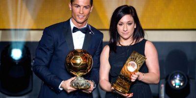 Cristiano Ronaldo y Nadine Kessler, la mejor futbolistas del mundo. Foto:Getty Images