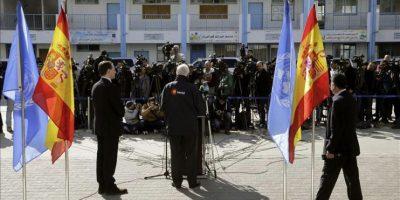 """El ministro español de Asuntos Exteriores, José Manuel García-Margallo, que visitó hoy Gaza en el marco de su gira por Oriente Medio, dijo que la comunidad internacional tiene que actuar """"rápidamente"""" en Gaza. EFE"""