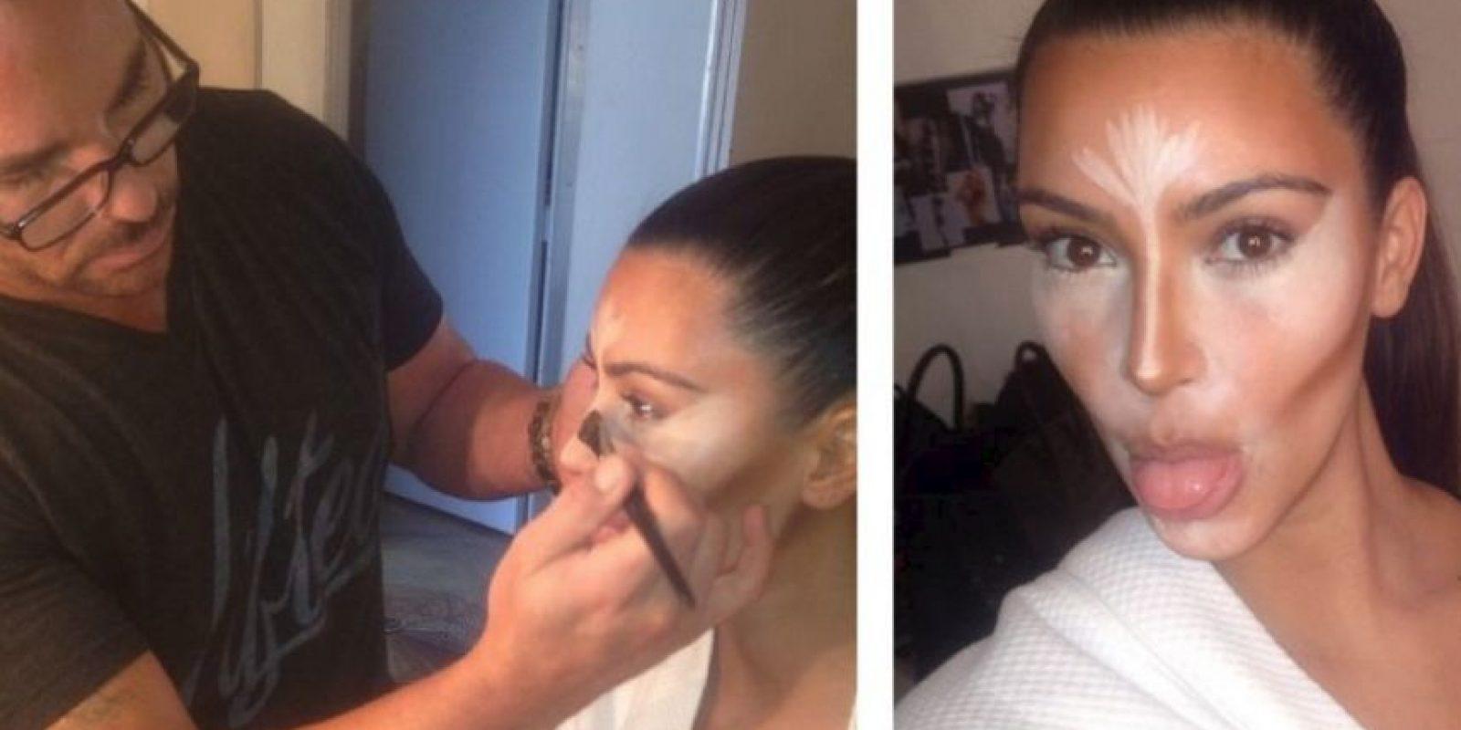 Esta es Kim antes de que los correctores hagan su magia Foto:Instagram/Kim Kardashian