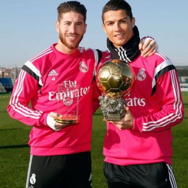Sergio Ramos y Cristiano Ronaldo. Foto:twitter.com/realmadrid