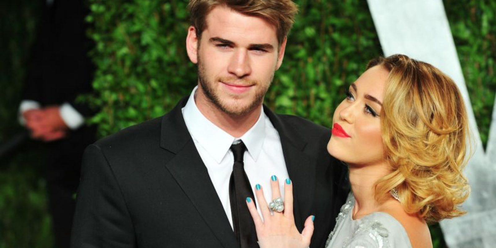 Con Miley Cyrus Foto: Getty Images