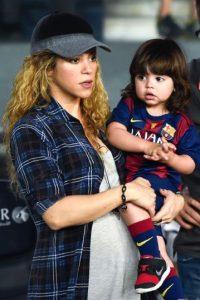 Shakira y su hijo Milan Piqué Foto:Getty Images