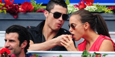 Cristiano e Irina en el Mutua Madrileña Madrid Open en mayo de 2012. Foto: Getty Images