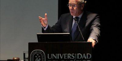 El canciller de Perú, Gonzalo Gutiérrez, inaugura la cuarta edición del Harvard National Model United Nations Latin America (HNMUN LA) en la Universidad del Pacífico en Lima (Perú). EFE