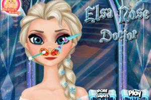 Ayuden a Elsa con sus problemas nasales Foto:Frozen Games