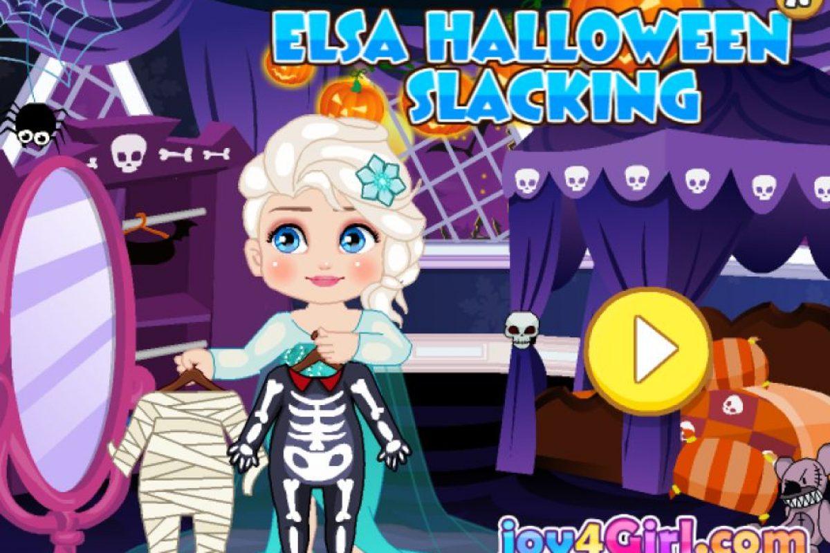 Para elegir el disfraz de Halloween de Elsa Foto:Frozen Games