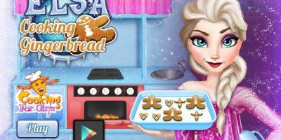 Elsa cocina galletas Foto:Frozen Games