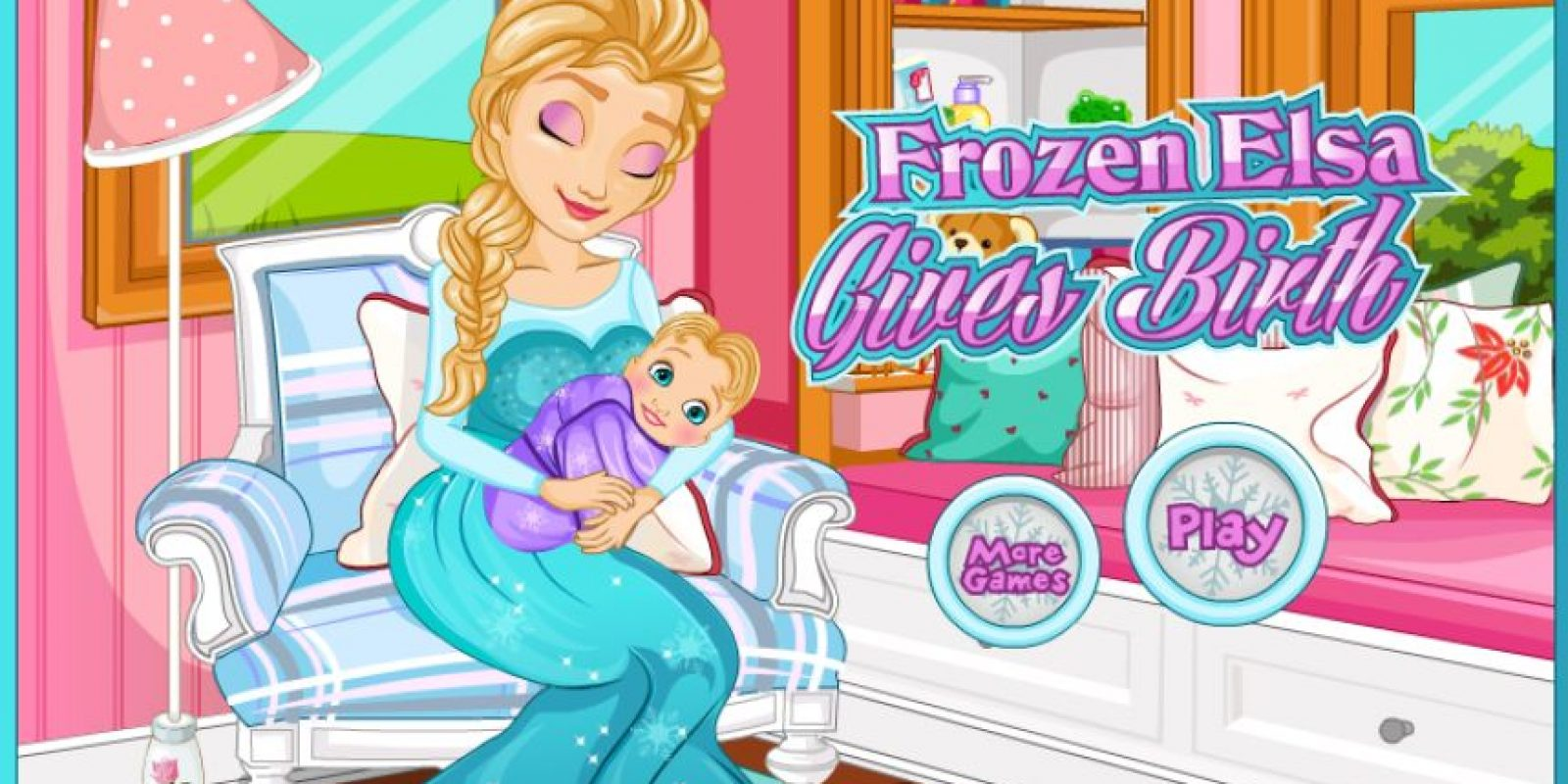 Aunque desconocemos al padre, Elsa también tiene un bebé Foto:Frozen Games