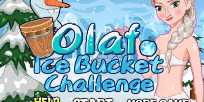 El #IceBucketChallenge de Olaf Foto:Frozen Games